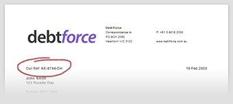 Invoice Reference Screenshot